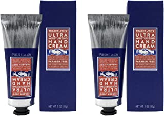 2-PACK, Trader Joe's ULTRA MOISTURIZING HAND CREAM - 20% Pure SHEA BUTTER, Enriched with HEMP SEED OIL & COCONUT OIL essential fatty acids, PARABEN FREE, skin-friendly ANTIOXIDANT VITAMINS C & E