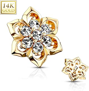 gold microdermal jewelry