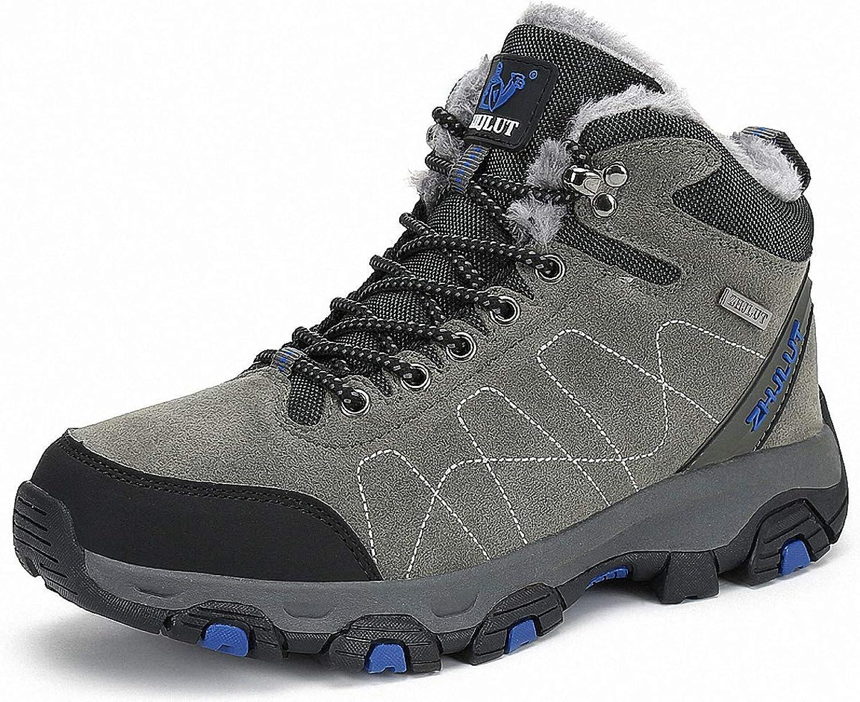 ZHENZHONG Women's Faux Fur Lining Hiking Mountain Walking Boots shoes Footwear