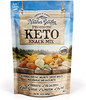 Nature's Garden Multi-Vitamins Probiotic Keto Trail Mix Dried Fruit -Tree Nuts (Almonds, Walnuts, Peanuts) Keto Cheese Bal...