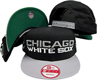 New Era Chicago White Sox Black/Grey Two Tone Plastic Snapback Adjustable Plastic Snap Back Hat/Cap