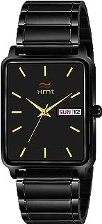 HEMT Analogue Men's Watch(Black Dial Black Colored Strap)-HM-GSQ213-BLK-BLK