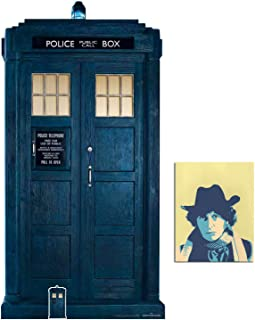 The Tardis from 13th Doctor Who 2/3 Life Size and Mini Cardboard Cutout Fan Pack, 195cm x 100cm Includes 8x10 Star Photo