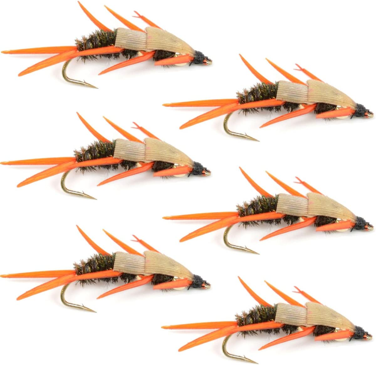 Double Bead Peacock 25% OFF Stonefly Nymph with Amber Biot Fly Fish Soldering Legs