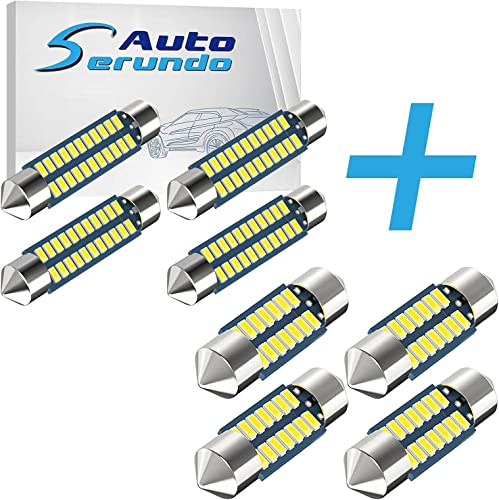 2021 Serundo Auto discount outlet online sale 4pcs 42mm 578 LED Bulbs+4pcs DE3175 Led Car Bulb 31mm 1.22in Led Festoon Bulb outlet sale