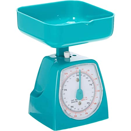 UNIWARE 8508 Mini Dial Kitchen Food Scale (Capacity: 5kg/ 11lb), No Battery, medium, Assorted Colors: Pink, White, Yellow,Green