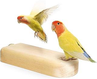 Niteangel Birchwood Bird Perch Stands for Parrot Conures Cockatiels Parakeet - Wooden Birdcage Entertainment Platform Toys