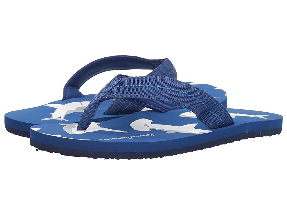 Hanna Andersson Sunny Day Flip Flops (Toddler/Little Kid/Big Kid) (Deep Blue Sea) Boys Shoes