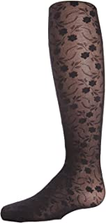 MeMoi Floral Lace Tights for Girls   Sheer Floral Tights
