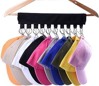 LEKUSHA Cap Organizer Hanger, 10 Baseball Cap Holder, Hat Organizer for Closet –..