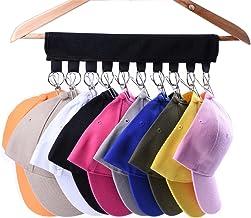 LEKUSHA Cap Organizer Hanger, 10 Baseball Cap Holder, Hat Organizer for Closet - Change Your Cloth Hanger to Cap Organizer...