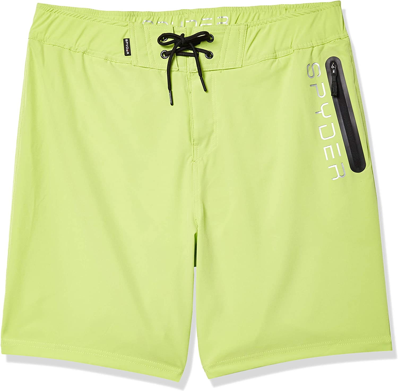 Spyder Men's Hydro Series Laser-Cut Boardshorts - Quick Dry Lightweight Swimwear
