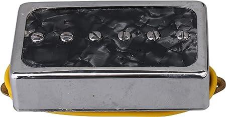 Yibuy 2個入れ 黒真珠 シングルコイルピックアップ ピックアップブリッジネックセット エレクトリックギターパーツのため