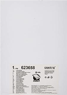 Centra 623658 Boîte de 100 Pochettes pour plastifieuse à chaud A4 Transparent