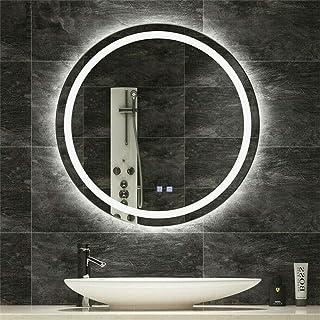 LUVODI Espejo Baño LED Redondo Espejo de Baño Antivaho con