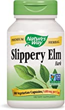 Nature's Way Slippery Elm Bark 1,600 mg 100 Vegetarian Capsules Pack of 2