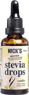 NICKS Stevia Drops, stevia líquida en gotas sin azúcar, cero calorías, edulcorante líquido aromatizado 50 ml (Vainilla)
