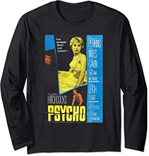 Psycho 1960 Horror Movie Poster Perfect Scary Gift Love Art Long Sleeve T-Shirt