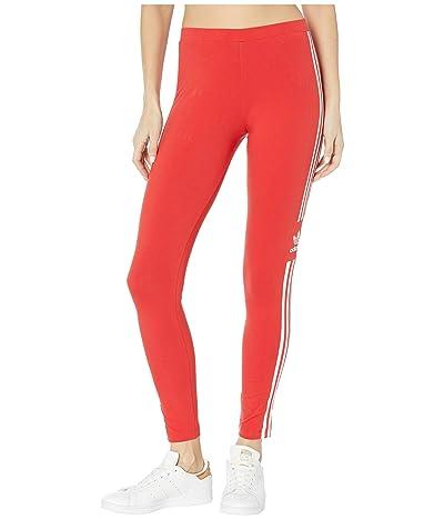 adidas Originals Trefoil Tights (Lush Red/White) Women
