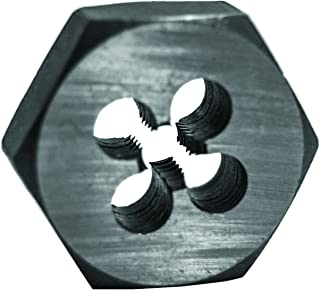 Century Drill & Tool 96202 High Carbon Steel Fractional Hexagon Die, 1/4-28 NF