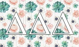 Delta Delta Delta - Sorority Letter Flag (Succulent Design)
