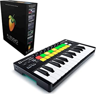 Novation Launchkey Mini 25-Mini-Key USB Keyboard Controller For Ableton Live bundled with FL Studio 20 Producer Edition [Download Card]