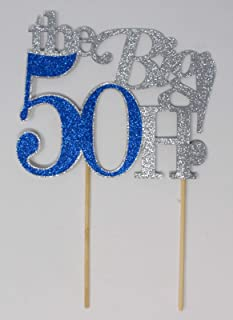 All About Details The Big 5OH! Cake Topper, 1pc, 50th birthday cake topper, 50th anniversary cake topper, 50th decoration ...
