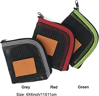 Aventik Fly Fishing Tapered Leader Wallet 5 Slots Tippet Case Net-Like Leader Tippet Storage Leader Pocket 4X4inch