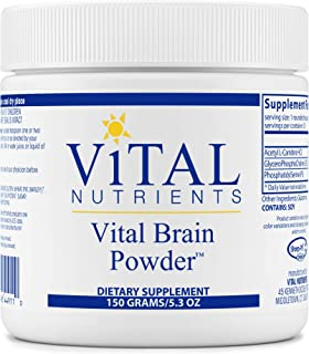 Vital Nutrients - Vital Brain Powder - Support for Brain Health and Cognitive Function - Vegetarian - Unflavored - 150 Grams