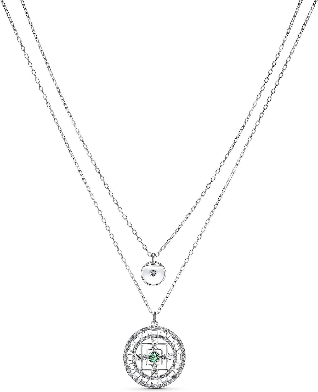 SWAROVSKI Symbolic Mandala 5541987 Limited time for free shipping Rhodium Plat Necklace Super beauty product restock quality top White