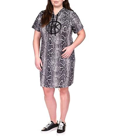 MICHAEL Michael Kors Plus Size Snake Logo Hoodie Dress