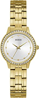 GUESS Womens Quartz Watch, Analog Display and Stainless Steel Strap - W1209L2