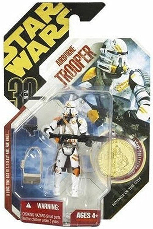 Airborne Trooper (gold Coin) Star Wars Saga 30th Anniversary  7 Action Figure