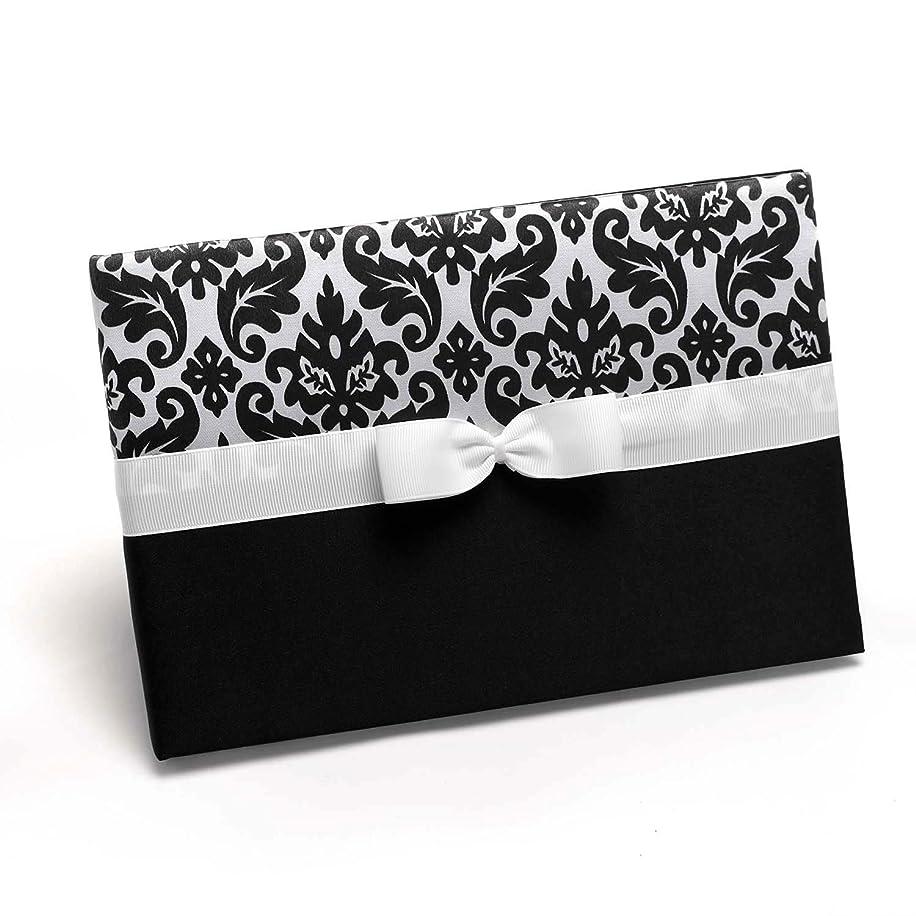 Hortense B. Hewitt Wedding Accessories Enchanted Evening Guest Book, Ebony, 9-1/2 by 6-1/2-Inch