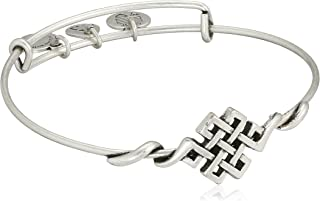 "Alex and Ani Spiritual Armor Endless Knot Expandable Wire Bangle Bracelet, 7.75"""
