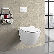 Swiss Madison SM-WT449 St. Tropez Wall Hung Toilet, Glossy White