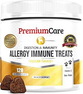 Allergy Relief Immune Supplement For Dogs - Made In USA - Vet Approved - Treats Allergies, Skin Itch, And Hot Spots - Prov...