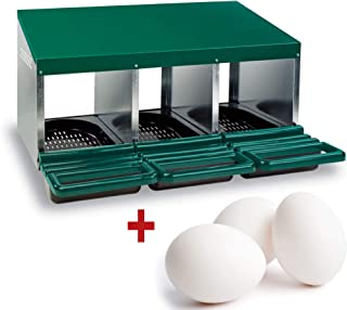 FINCA CASAREJO Ponederos para gallinas + 3 Huevos macizos de
