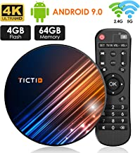 Android 9.0 TV Box 4GB RAM 64GB ROM TICTID Android TV Box...