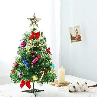 Scenic Tabletop Artificial Small Mini Christmas Tree w/LED Lights & Ornaments Decor MN