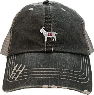 Go All Out Adult Goat #12 Embroidered Distressed Trucker Cap