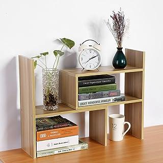 SOULONG Étagère de Bureau, Bibliothèque en Bois DIY Créative, étagère d'armoire étagère pour Organiseur de Table DIY Bibli...
