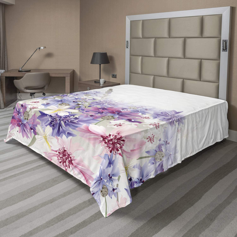 Ambesonne Lavender Flat Sheet Max 62% OFF Cornflowers Pastel Classic 5 ☆ popular Bridal