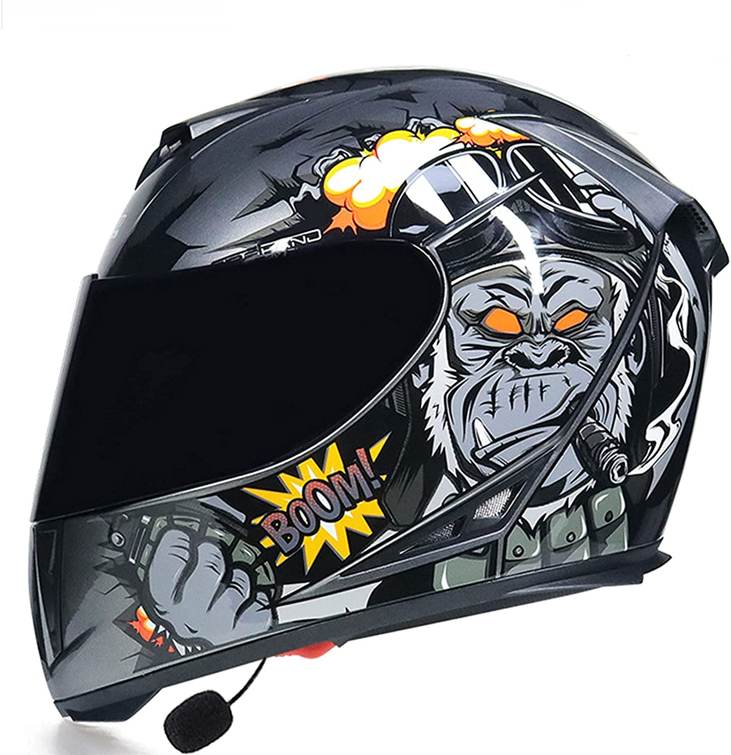 Open-Face Motorbike Helmets Indefinitely Bluetooth Dealing full price reduction Flip Front Mo Up