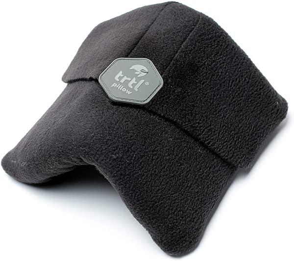 Trtl 枕头科学证明超柔软护颈旅行枕头可机洗黑色