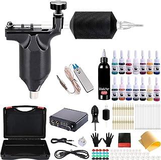Tattoo Kit voor beginners, Moricher Compleet Tattoo Gun Kit met 1 Pro Rotary Tattoo Machine 15 Inks 20 Needs Digital Displ...