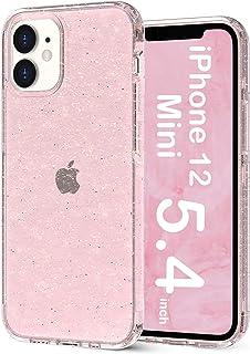 "ORNARTO Crystal Glitter Hülle für iPhone 12 Mini 5,4', Bling Robuste, Stoßfeste Glitzer Hybrid PC+TPU Silikon Handyhülle für iPhone 12 Mini(2020) 5,4 "" Rose"