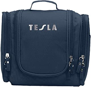 Tesla Band Platinum Logo Cosmetic Makeup Bag