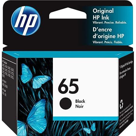 HP 65   Ink Cartridge   Works with HP Deskjet 2600 Series, 3700 Series, HP ENVY 5000 Series, HP AMP 100, 120, 125, 130   Black   N9K02AN