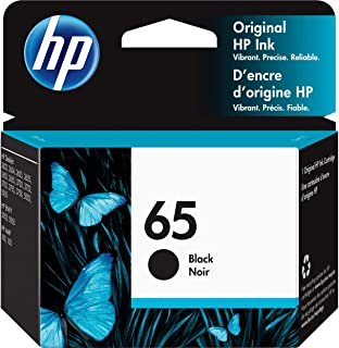 HP 65 | Ink Cartridge | Black | Works with HP DeskJet 2600 Series, 3700 Series, HP ENVY 5000 Series, HP AMP 100, 120, 125,...
